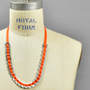 Anni Albers Jewelry: Make Your Own Necklace Kit #4, completed, on mannequin