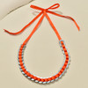 Anni Albers Jewelry: Make Your Own Necklace Kit #4, completed