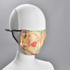 Birds and Tulip Face Mask by Ana Thorne, on mannequin
