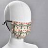 Green Baskets Quilt Face Mask by Ana Thorne, on mannequin