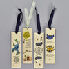 Bookmarks in 4 available styles - Six of One; No Bird; Friends Are Like Leaves; Love What is Fine