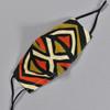African Wax Print Orange Diamond Face Mask by Art & Soul Gallery