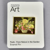 Rubens Peale: From Nature in the Garden Enamel Pin, on backing card