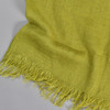 European Linen Scarf in Olive, close up