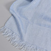 European Linen Scarf in blue, close up