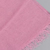 European Linen Scarf in rose, close up