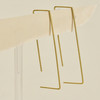 Svelte Rectangle Hoop Earrings, in gold, shown hanging
