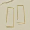 Svelte Rectangle Hoop Earrings, in gold
