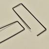 Svelte Rectangle Hoop Earrings, in black