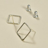 Sterling Square Outline Earrings by Selah, showing posts