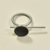 Bar and Diamond Dust Disk Ring