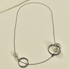 Grey Glass Spindles Long Necklace