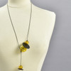 Amber Glass Quince Y Necklace, on mannequin
