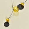 Amber Glass Quince Y Necklace, close up
