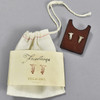 Sterling Foundling Terran Flower Earrings, with pouch and leather insert