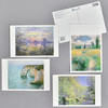 Monet Museum Postcard Set, showing fronts, and back of one card