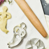 Mermaid Cookie Cutter Reproduction, with baking utensils