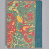 """Marbled Sketchbook 5.75"""" x 4.25"""" - Yellow/Blue/Red, back"""