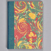 """Marbled Sketchbook 5.75"""" x 4.25"""" - Yellow/Blue/Red, front"""