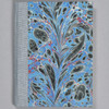 """Marbled Sketchbook 5.75"""" x 4.25"""" - Blue Fountain, front"""