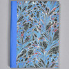 """Marbled Sketchbook 7"""" x 5"""" - Blue Fountain, front"""