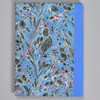 """Marbled Sketchbook 7"""" x 5"""" - Blue Fountain, back"""