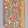 """Marbled Sketchbook 7"""" x 5"""" - yellow/blue/red French curl, back"""