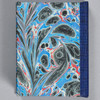 Marbled Playing Card Box - Blue Fountain, back