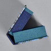 Marbled Playing Card Box - Blue Fountain, top