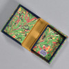 Marbled Playing Card Box - Green Fountain, opened