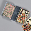 Marbled Playing Card Box - Grey/Pink Stone, opened with playing cards inside
