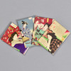 Yoshitoshi: Female Beauty Magnet Set, 4 magnets fanned out