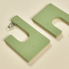 Coltrane Squared 2-Sided Hoops - light green