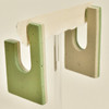 Coltrane Squared 2-Sided Hoops - light green, hanging