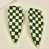 Checkered Dagger Earrings by Gracious Rebel