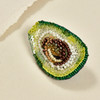 Embroidered & Beaded Avocado Pin