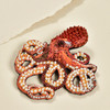 Embroidered & Beaded Octopus Pin