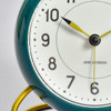 Arne Jacobsen Table Clock with Alarm, Green, close up