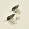 Tiny Rare Wood Earrings, Black Pace