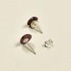 Tiny Rare Wood Earrings, Red Rare Wood