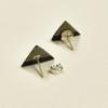 Tiny Rare Wood Earrings, Solid Rare Wood
