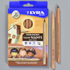 Lyra Color Giants Pencils: Skin Tones, front of box with pencils