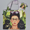 Frida Self Portrait with Hummingbird Folding Tote, showing pouch