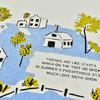 Friends Are Like Leaves Tea Towel by Nottene, close up of graphic