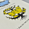 No Bird Tea Towel by Nottene, close up of graphic