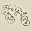 Wrought Iron Scroll Earrings by Maureen Duffy, showing posts