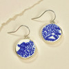Blue Willow Vintage Plate Earrings by As the Crow Flies and Co