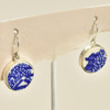 Blue Willow Vintage Plate Earrings by As the Crow Flies and Co, hanging