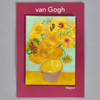 Vincent van Gogh Sunflowers magnet, on packaging card