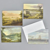 19th Century American Marine and Landscape Painting Notecard Set, cards and envelope